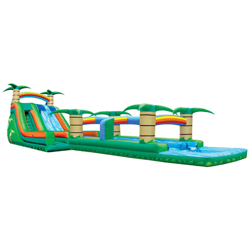 Inflatable Water Slide Usa: Inflatable Dual Lane Tropical Water Slide Rentals In Los