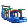 24FT Tropical Dual Lane Water Slide