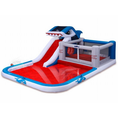 Inflatable Shark Water Slide