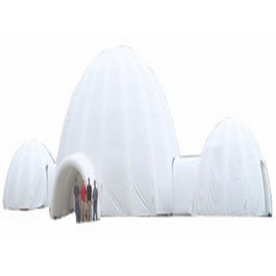 Inflatable White Dome Tent Tunnel